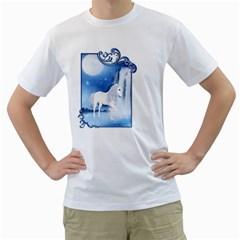 White Unicorn 2 Mens  T-shirt (White)