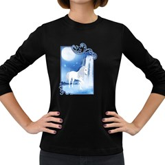 White Unicorn 2 Womens' Long Sleeve T-shirt (Dark Colored)