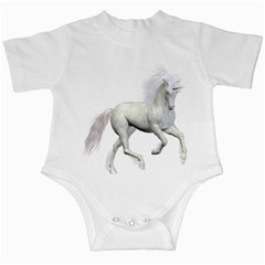 White Unicorn 3 Infant Creeper