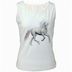 White Unicorn 3 Womens  Tank Top (White)
