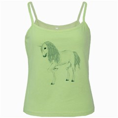 White Unicorn 4 Green Spaghetti Tank