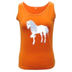 White Unicorn 4 Womens  Tank Top (dark Colored)