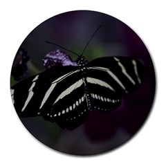 Butterfly 059 001 8  Mouse Pad (Round)