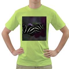 Butterfly 059 001 Mens  T-shirt (Green)
