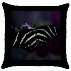 Butterfly 059 001 Black Throw Pillow Case