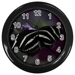 Butterfly 059 001 Wall Clock (Black)