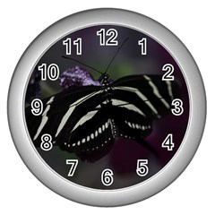 Butterfly 059 001 Wall Clock (silver)