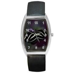 Butterfly 059 001 Tonneau Leather Watch
