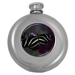 Butterfly 059 001 Hip Flask (round)