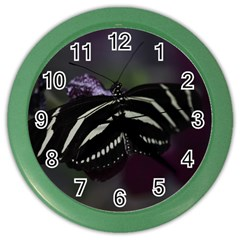 Butterfly 059 001 Wall Clock (color)