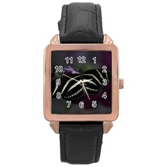 Butterfly 059 001 Rose Gold Leather Watch