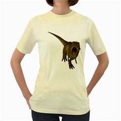 Tyrannosaurus Rex  Womens  T-shirt (Yellow)