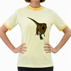 Tyrannosaurus Rex Womens  Ringer T Shirt (colored)