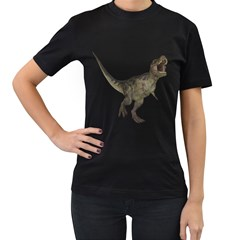 Tyrannosaurus Rex 2 Womens' Two Sided T-shirt (Black)