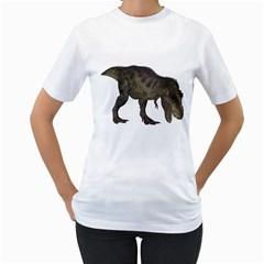 Tyrannosaurus Rex 3 Womens  T-shirt (White)
