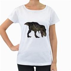 Tyrannosaurus Rex 3 Womens' Maternity T-shirt (White)