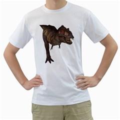 Tyrannosaurus Rex 4 Mens  T-shirt (White)