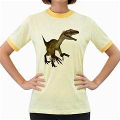 Utahraptor 1 Womens  Ringer T-shirt (Colored)