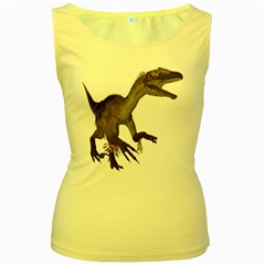 Utahraptor 1 Womens  Tank Top (Yellow)