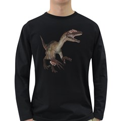 Utahraptor 1 Mens' Long Sleeve T-shirt (Dark Colored)