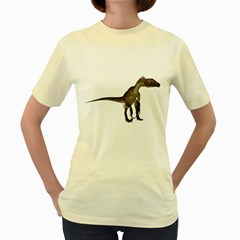 Utahraptor 2  Womens  T-shirt (Yellow)