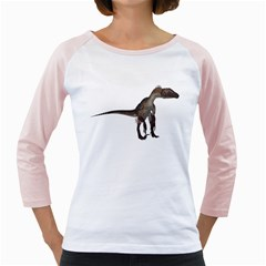 Utahraptor 2 Womens  Long Sleeve Raglan T Shirt (white)