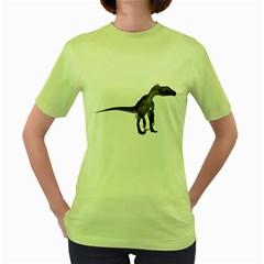 Utahraptor 2 Womens  T-shirt (Green)
