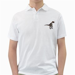 Utahraptor 2 Mens  Polo Shirt (white)