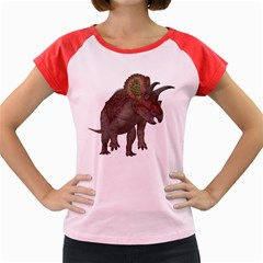 Triceratops Women s Cap Sleeve T-Shirt (Colored)