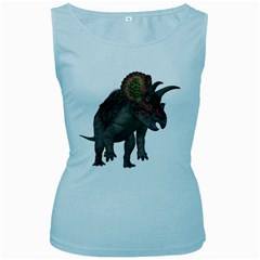 Triceratops Womens  Tank Top (Baby Blue)