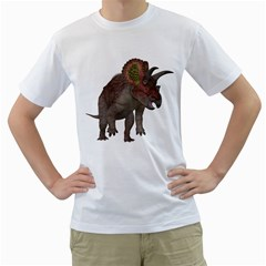 Triceratops Mens  T Shirt (white)