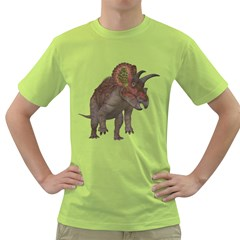 Triceratops Mens  T-shirt (Green)