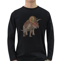 Triceratops Mens' Long Sleeve T-shirt (Dark Colored)