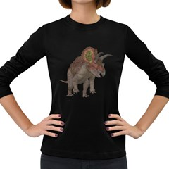 Triceratops Womens' Long Sleeve T-shirt (Dark Colored)