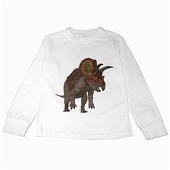 Triceratops Kids Long Sleeve T-Shirt