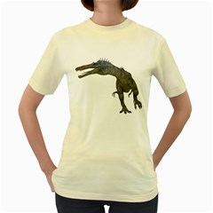Suchomimus 1  Womens  T-shirt (Yellow)