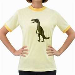 Suchomimus 2 Womens  Ringer T-shirt (Colored)