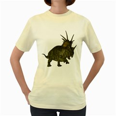 Styracosaurus 1  Womens  T Shirt (yellow)
