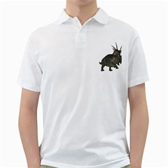 Styracosaurus 1 Mens  Polo Shirt (white)