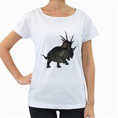 Styracosaurus 1 Womens' Maternity T Shirt (white)