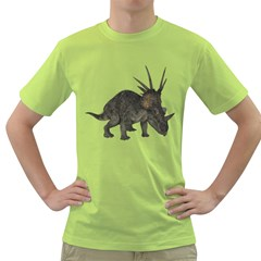 Styracosaurus 2 Mens  T Shirt (green)