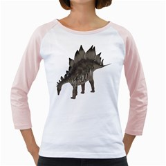 Stegosaurus 1 Womens  Long Sleeve Raglan T-shirt (White)