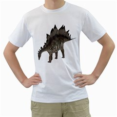 Stegosaurus 1 Mens  T-shirt (White)