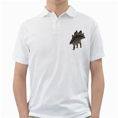 Stegosaurus 1 Mens  Polo Shirt (White)