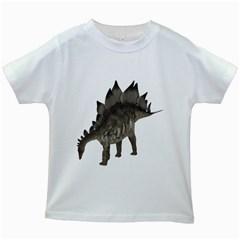 Stegosaurus 1 Kids' T Shirt (white)