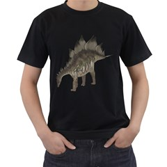 Stegosaurus 1 Mens' Two Sided T-shirt (Black)