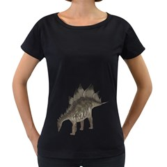 Stegosaurus 1 Womens' Maternity T Shirt (black)