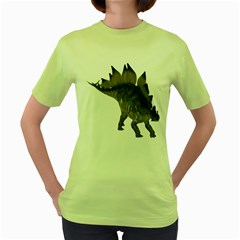Stegosaurus 2 Womens  T Shirt (green)