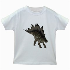 Stegosaurus 2 Kids' T-shirt (White)