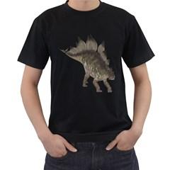 Stegosaurus 2 Mens' Two Sided T-shirt (Black)
